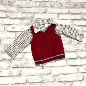 Sweater Vest Shirt Combo